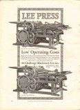 challenge machinery company 1926 lee press operating cost vintage ad