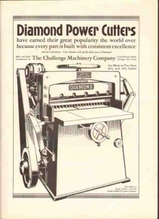 challenge machinery company 1926 diamond cutters printing vintage ad