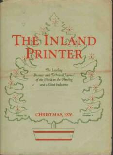 inland printer 1926 christmas magazine cover vintage print