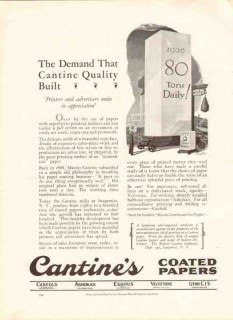 martin cantine company 1926 printers advertisers paper vintage ad