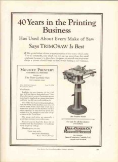 hill-curtis company 1926 trimosaw best printing business vintage ad