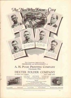 a h pugh printing company 1926 men who know dexter folding vintage ad