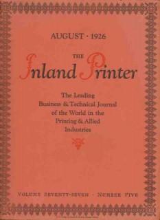 inland printer 1926 joseph c kuehnl magazine cover art vintage print