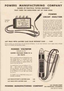 powers mfg company 1948 electrical testing equipment vintage catalog