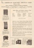 American Electric Switch Corp 1948 Vintage Catalog Circuit Breakers