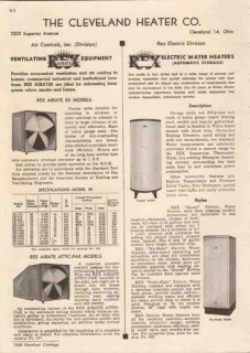 Cleveland Heater Company 1948 Vintage Catalog Ventilating Rex Airate