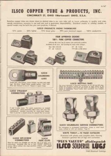 Ilsco Copper Tube Products Inc 1948 Vintage Catalog Electric Connector