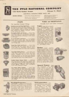 Pyle-National Company 1948 Vintage Catalog Pylets Conduit Fittings
