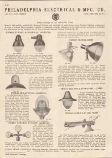 Philadelphia Electrical Mfg Company 1948 Vintage Catalog Lighting