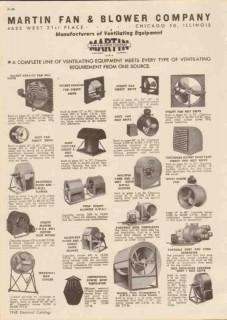 Martin Fan Blower Company 1948 Vintage Catalog Ventilating Equipment