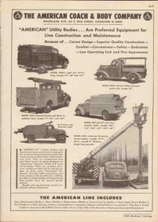 American Coach Body Company 1948 Vintage Catalog Truck Utility Line