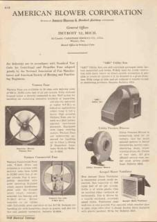American Blower Corp 1948 Vintage Catalog Ventura Fans ABC Utility Set