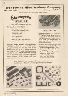 Brandywine Fibre Products Company 1948 Vintage Catalog Vulcanized Tube