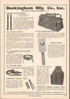 Buckingham Mfg Company 1949 Vintage Catalog Tool Bag Thread Cleaner