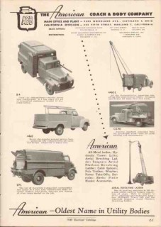 American Coach Body Company 1949 Vintage Catalog Truck Utility Line