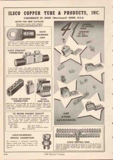 Ilsco Copper Tube Products Inc 1949 Vintage Catalog Connector Lugs