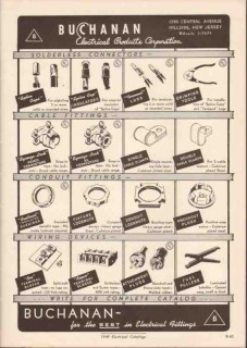 Buchanan Electrical Products Corp 1949 Vintage Catalog Connectors