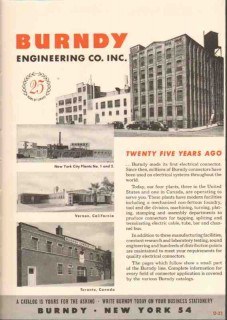 Burndy Engineering Company 1949 Vintage Catalog Connectors Industrial
