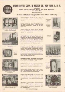 Brown Boveri Corp 1949 Vintage Catalog Electrical Equipment Industry