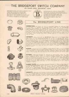 Bridgeport Switch Company 1951 Vintage Catalog Electrical Connectors