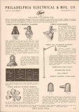 Philadelphia Electrical Mfg Company 1951 Vintage Catalog Lighting