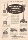J H Holan Corp 1951 Vintage Catalog Utility Trucks Equipment Overhead