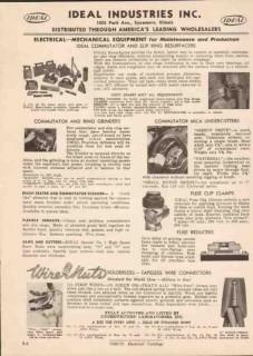 Ideal Industries Inc 1951 Vintage Catalog Commutator Ring Grinder Mica