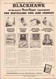 Blackhawk Mfg Company 1951 Vintage Catalog Electric Tools Porto-Power
