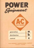 Allis-Chalmers 1951 Vintage Catalog Power Equipment Generate Control
