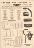Conduit Pipe Products Company 1952 Vintage Catalog Elbows Nipples