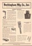 Buckingham Mfg Company 1952 Vintage Catalog Electric Lineman Equipment