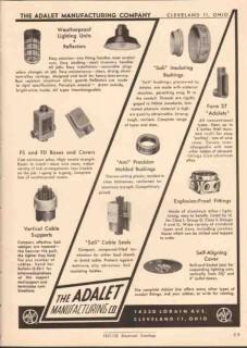 Adalet Mfg Company 1952 Vintage Catalog Electric Sali Bushings Seals