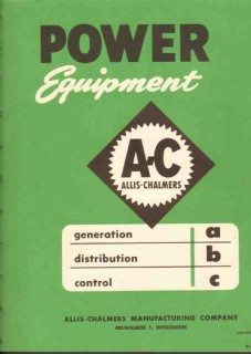 Allis-Chalmers Mfg Company 1952 Vintage Catalog Power Equipment