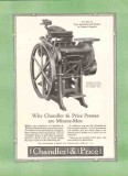 chandler price company 1926 minute men presses printing vintage ad