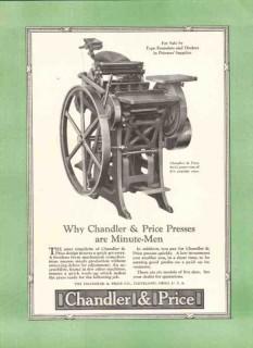chandler price company 1926 minute men presses printing vintage ad