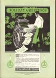chandler price company 1926 holiday greeting printing vintage ad