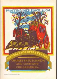 charles eneu johnson company 1926 printing inks horses vintage ad