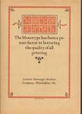 lanston monotype machine company 1926 typesetting printing vintage ad