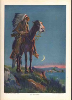 bingham brothers company 1926 invaders indian horse print vintage ad