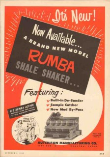 Hutchison Mfg Company 1953 Vintage Ad Oil Rumba Shale Shaker Available