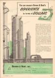 Brown Root Inc 1953 Vintage Ad Oil Measure Experience Terms Dollars