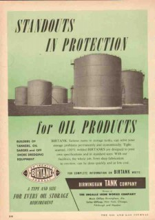 Birmingham Tank Company 1953 Vintage Ad Oil Product Birtank Protection
