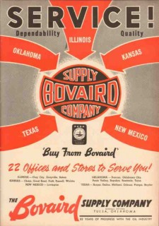 Bovaird Supply Company 1953 Vintage Ad Oil Field Service Dependability