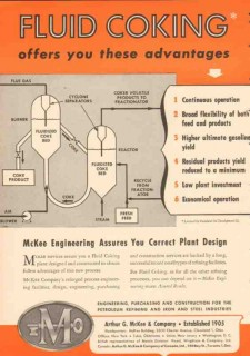 Arthur G McKee Company 1953 Vintage Ad Fluid Coking Offers Advantages