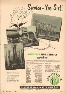 Peerless Mfg Company 1953 Vintage Ad Oil Service Everywhere Separators