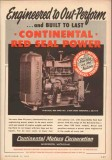 Continental Motors Corp 1955 Vintage Ad Engineered Out-Perform Power
