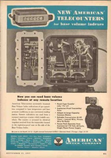 American Meter Company 1953 Vintage Ad Telecounters Read Remote Volume