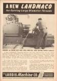 Landis Machine Company 1953 Vintage Ad Large Diameter Threads Landmaco