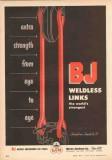 Byron Jackson Company 1953 Vintage Ad Oilfield Tools BJ Weldless Links