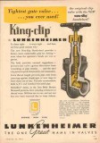 Lunkenheimer Company 1953 Vintage Ad Oil Field Gate Valve King-Clip